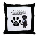 Whoodle Paw Club Member Throw Pillow