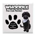 Whoodle Paw Club Member Tile Coaster
