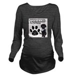 Whoodle Paw Club Member Long Sleeve Maternity T-Sh