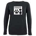 Whoodle Paw Club Member Plus Size Long Sleeve Tee