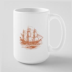 Vintage Clipper Ship Large Mug