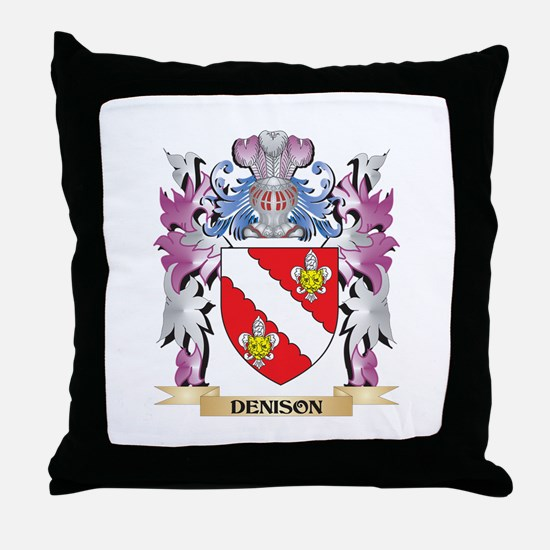 Denison Coat of Arms (Family Crest) Throw Pillow