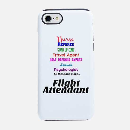 Flight Attendant Job Descrip iPhone 8/7 Tough Case