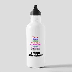 Flight Attendant Job D Stainless Water Bottle 1.0L