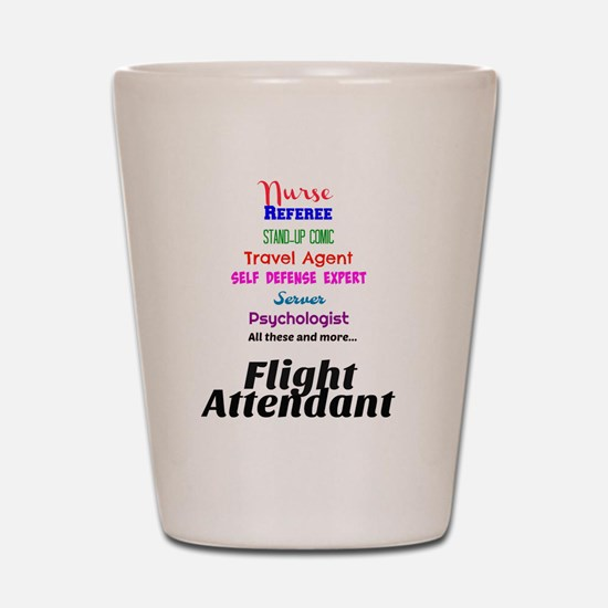 Flight Attendant Job Description Shot Glass