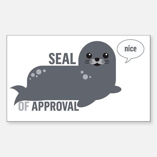 Cute Seal Sticker (Rectangle)