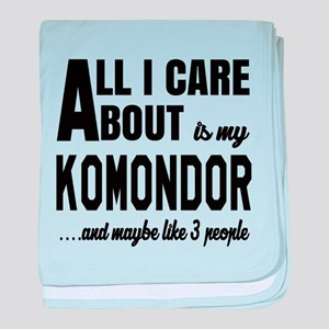 All I care about is my Komondor Dog baby blanket