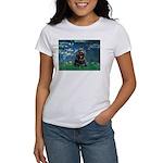 Lilies (5)/Cocker (Blk) Women's T-Shirt