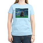 Lilies (5)/Cocker (Blk) Women's Light T-Shirt