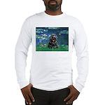 Lilies (5)/Cocker (Blk) Long Sleeve T-Shirt
