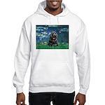 Lilies (5)/Cocker (Blk) Hooded Sweatshirt