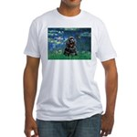 Lilies (5)/Cocker (Blk) Fitted T-Shirt