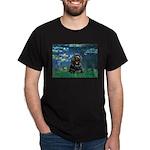 Lilies (5)/Cocker (Blk) Dark T-Shirt