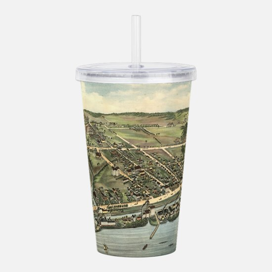 Vintage Pictorial Map Acrylic Double-wall Tumbler
