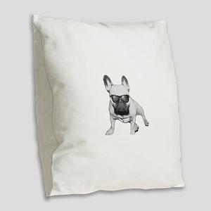 Hipster Coco Burlap Throw Pillow