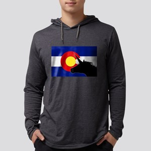 Unicorns Over Colorado Long Sleeve T-Shirt