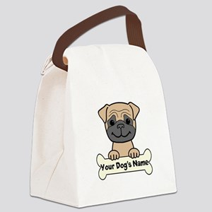 Personalized Pug Canvas Lunch Bag