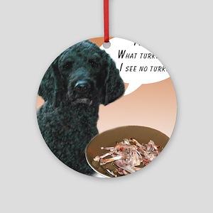 Poodle Turkey Ornament (Round)