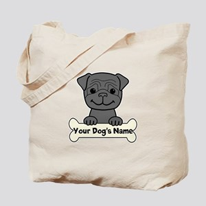 Personalized Pug Tote Bag