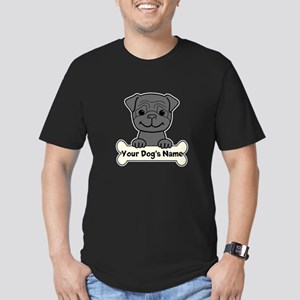 Personalized Pug Men's Fitted T-Shirt (dark)