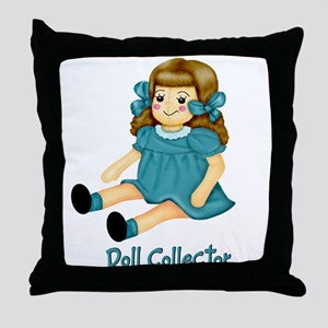 Teal - Rag Doll Throw Pillow