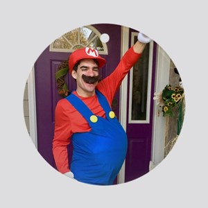 Jacob As Mario: Round Ornament
