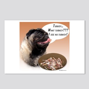 Pug(fawn) Turkey Postcards (Package of 8)