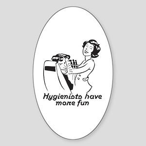 Funny Dental Hygiene Oval Sticker