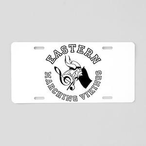 Evba Logo In Black Aluminum License Plate
