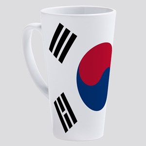Korean Flag 17 Oz Latte Mug