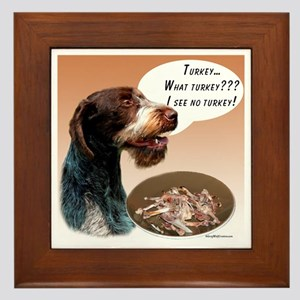 Wirehaired Turkey Framed Tile