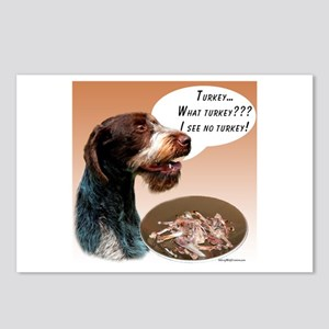 Wirehaired Turkey Postcards (Package of 8)