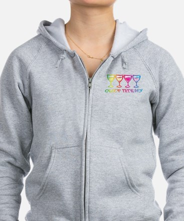 Wine Group Therapy 2 Women's Zip Hoodie Sweats