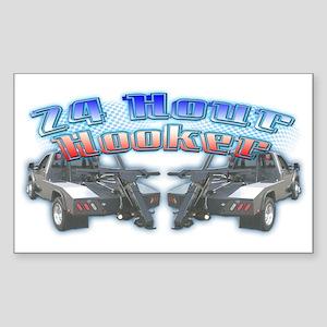 24 Hour Wrecker Rectangle Sticker