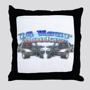 24 Hour Wrecker Throw Pillow