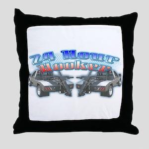 24 Hour Wrecker Throw Pillow