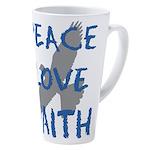 Peace Love Faith 17 Oz Latte Mug