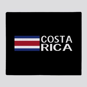 Costa Rica: Costa Rican Flag & Costa Throw Blanket