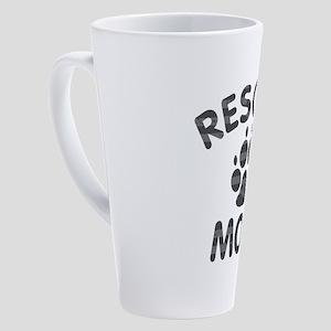Rescue Dog Mom 17 oz Latte Mug