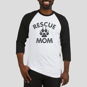 Rescue Dog Mom Baseball Jersey