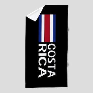 Costa Rica: Costa Rican Flag & Costa R Beach Towel