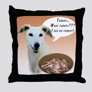 Greyhound Turkey Throw Pillow