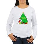 Christmas Scene Women's Long Sleeve T-Shirt