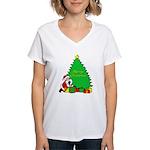 Christmas Scene Women's V-Neck T-Shirt