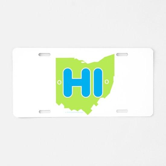 Unique Ohio Aluminum License Plate