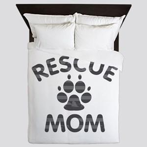 Rescue Dog Mom Queen Duvet