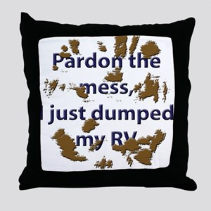 RV dump mess Throw Pillow