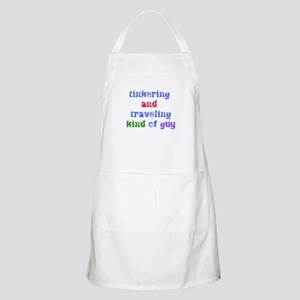 Tinkering and traveling guy BBQ Apron