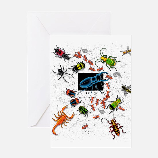 Bugs Allover Greeting Cards