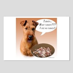 Irish Terrier Turkey Postcards (Package of 8)